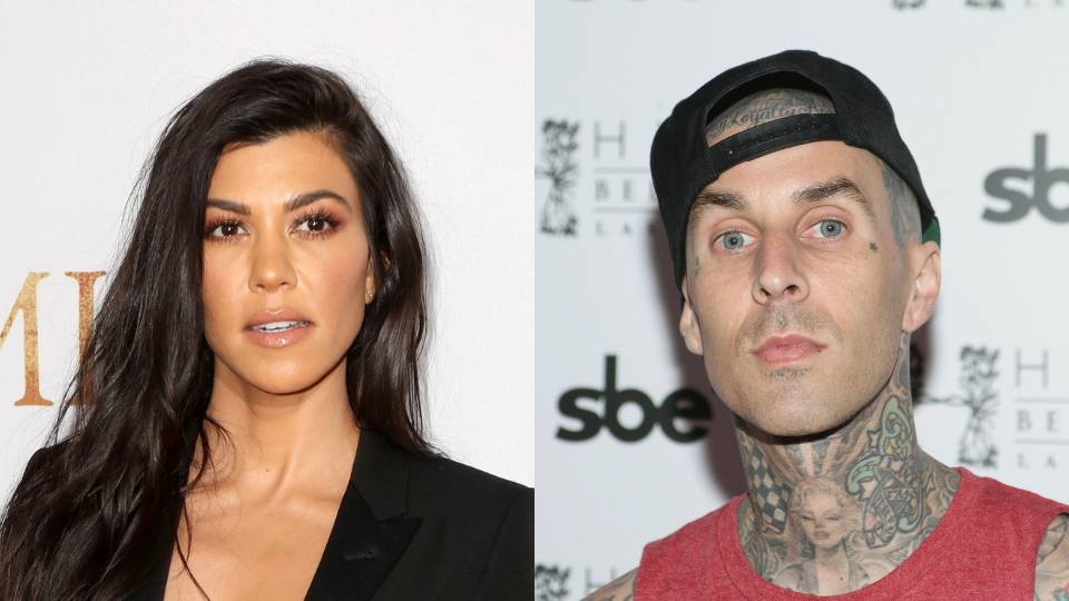 Here's How Kourtney Kardashian Feels About Rumors Travis Had an Affair With Kim Before They Dated