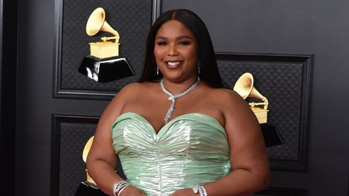Lizzo Matched Her Oversized Hair Clips To Her Pink Dress In The Most '90s Way Possible