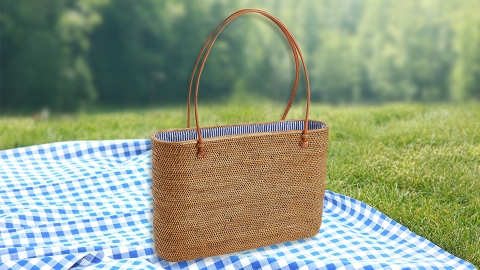 This Rattan Tote Is Giving Me All The Cottagecore Vibes For Spring | StyleCaster