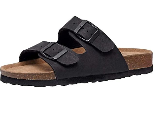 CUSHIONAIRE Women's Lane Cork Footbed Sandal