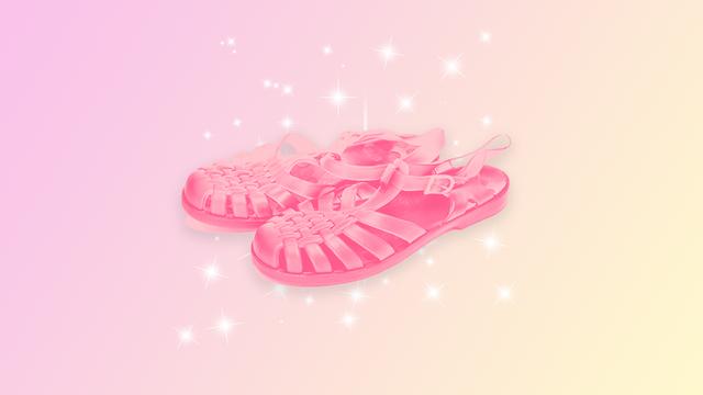 Tendenza sandali in gelatina