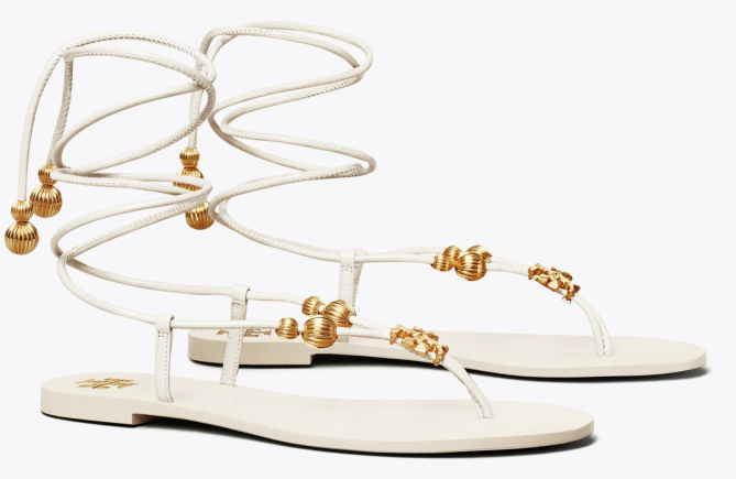 STYLECASTER | Amanda Gorman Tory Burch Sandals