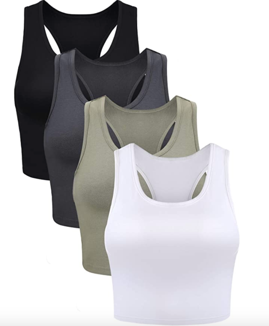 Boao 4 Pieces Basic Crop Tank Tops