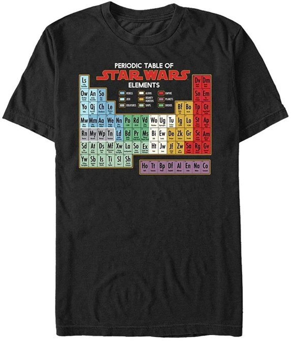 'Star Wars' Periodic Table T-Shirt