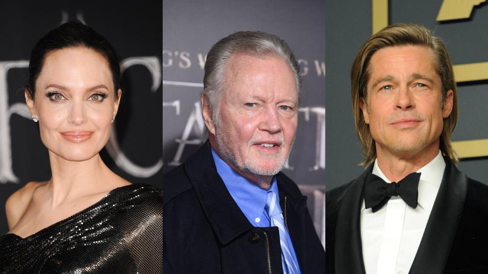 Angelina Jolie, Jon Voight, Brad Pitt