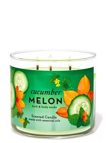 cetriolo melone 3 stoppini candela Bath & Body Works ha una sezione di candele solo online che ti lascerà a bocca aperta