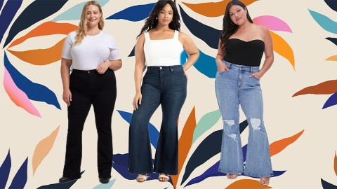 The Best Flare Jeans For Plus-Size Bodies, Bar None | StyleCaster