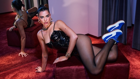 Dua Lipa's New Pumas Are A Twist On The Classic Blue Suede Shoes | StyleCaster