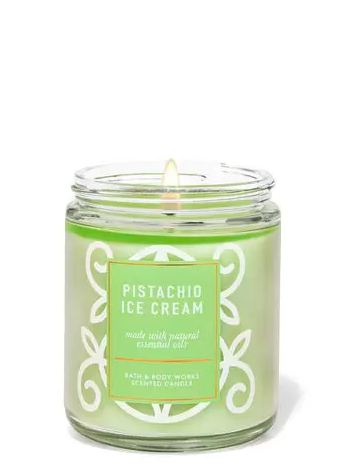 pistachio ice cream single wick candle Bath & Body Works Has An Online Only Candle Section That Will Blow Your Mind