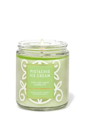 Candela a stoppino singolo gelato al pistacchio Bath & Body Works ha una sezione candele solo online che ti lascerà a bocca aperta
