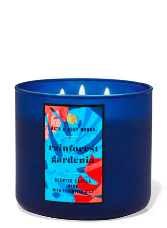 rainforest gardenia 3 wick candle Bath & Body Works Has An Online Only Candle Section That Will Blow Your Mind
