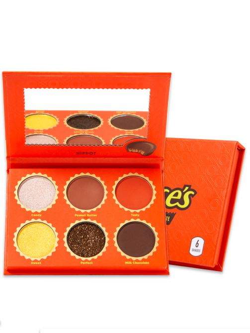 reeses milk chocolate cup pressed pigment palette HipDots Reese's Collection Features Actually Cool Makeup Shades That Smell Like Chocolate