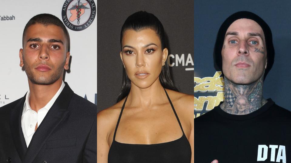 Younes Bendjima, Kourtney Kardashian, Travis Barker