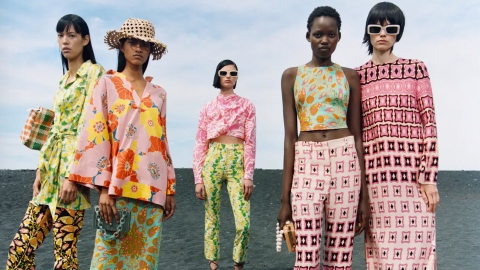 Zara's New Matching Sets Are Covered In Swirly Retro Prints   StyleCaster
