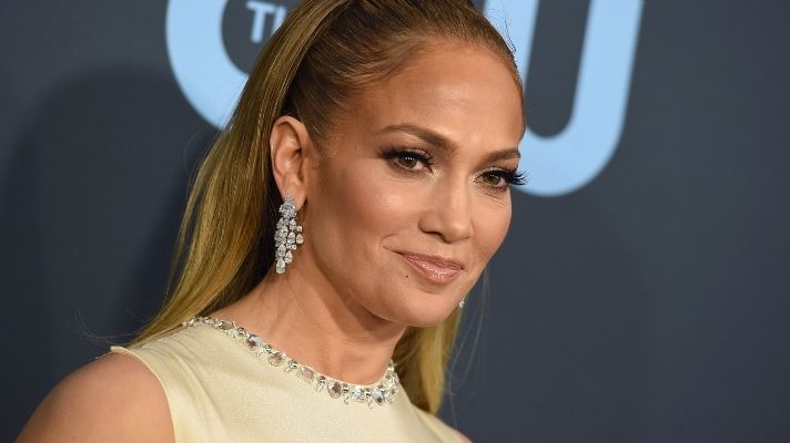 JLo Showed Off Her Natural Waves & New Bronze Hair Color While Teasing Her New Single