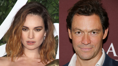 Lily James Finally Addressed Those Photos of Her Kissing Married Actor Dominic West | StyleCaster