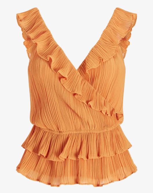 ruffled tank Tayshia Adams On TikTok, Summer Fashion & How The Bachelorette Impacted Her Style