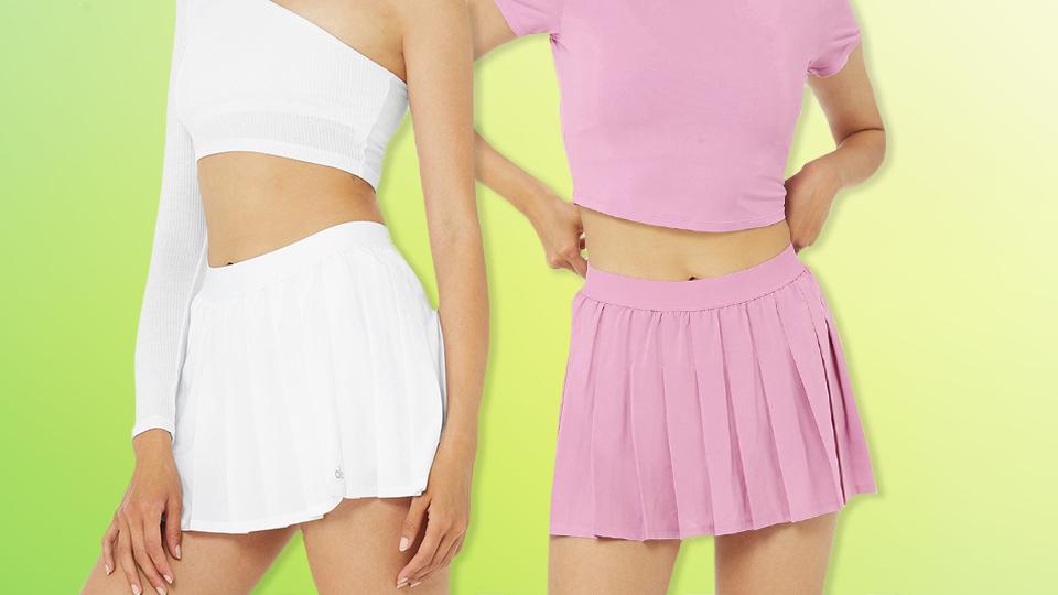 PSA: Alo's Varsity Tennis Skirt Is Back In Stock (But Not For Long)