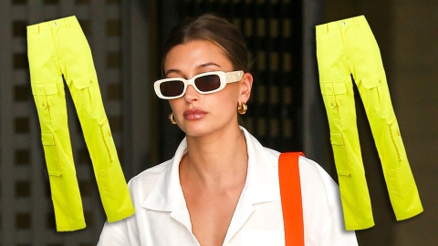 Hailey Bieber Says Highlighter Pants Will Be Summer's Biggest Trend | StyleCaster