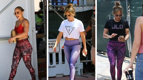 J.Lo Has Me Convinced That Patterned Leggings Are Making A Comeback   StyleCaster