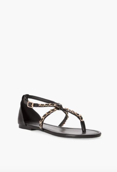 justfab letta chain sandal