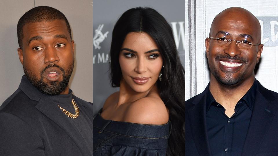 Kanye West, Kim Kardashian, Van Jones