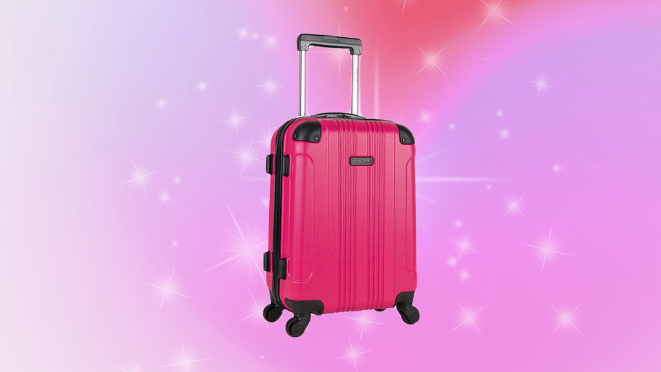 This Hot Pink Carry-On Is a Solid Away Luggage Lookalike & It's On Sale for $53 RN   StyleCaster