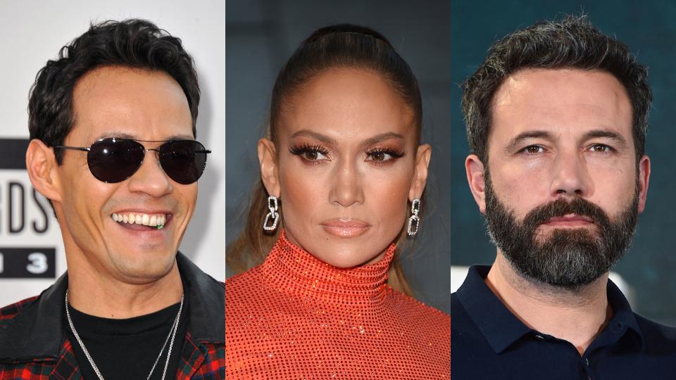 Marc Anthony, Jennifer Lopez, Ben Affleck