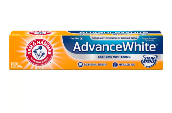 arm hammer advance white extreme whitening baking soda peroxide toothpaste TikTokers Say This Drugstore Toothpaste Delivers Professional Whitening