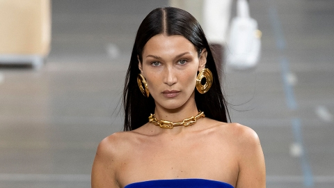 Bella Hadid Should Be Required To Wear This Blue Mini Dress Every Damn Day | StyleCaster
