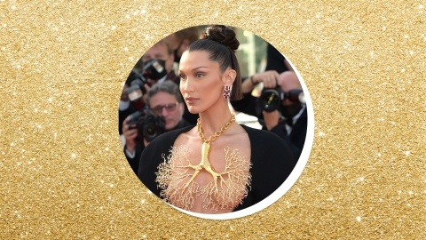 """Bella Hadid Just Wore A """"Lung"""" Necklace At Cannes & I'm Seriously Breathless 