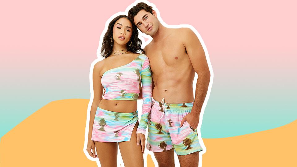 Frankies Bikinis Dropped Their First-Ever Matching Bikinis & Board Shorts