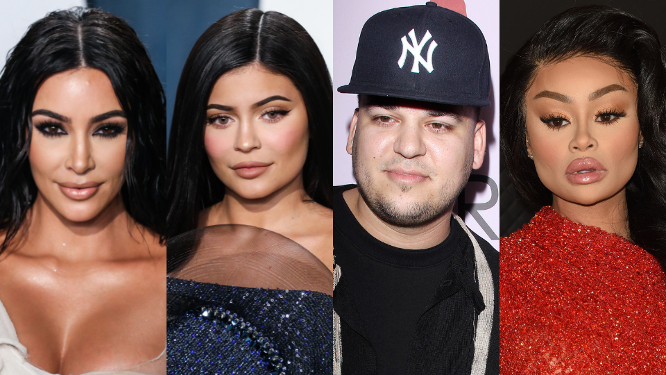 Kim Kardashian, Kylie Jenner, Rob Kardashian, Blac Chyna