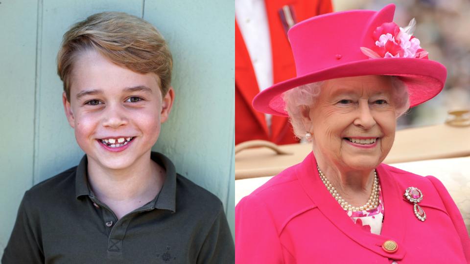 Prince George, Queen Elizabeth