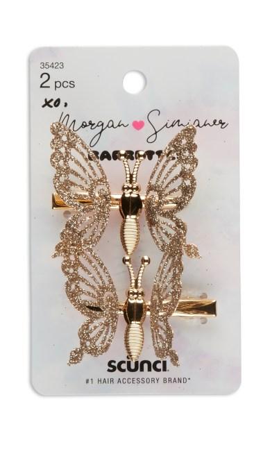 scunci butterfly clips