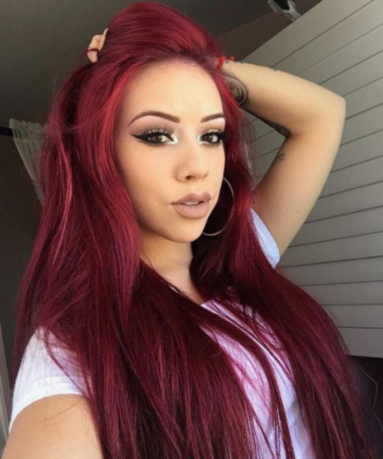 Burgundy Straight Glueless Estelle Wig 8 Red Wig Units To Bring The Summer Heat Into Fall