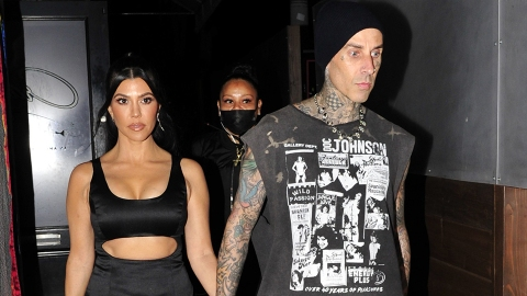 Travis Barker Just Took His 1st Flight With Kourtney After His Near-Fatal Plane Crash | StyleCaster