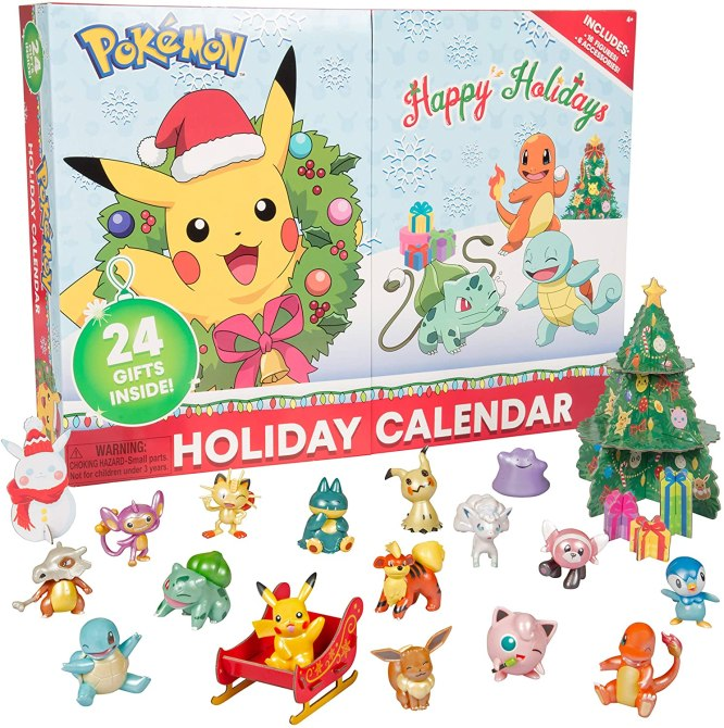 Pokwemon Advent Calendar Theres a Pokémon Advent Calendar & It Includes a Sleigh For Pikachu—Get It Before Its Gone