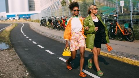 35 Copenhagen Fashion Week Street Style Looks That Prove Color Reigned Supreme | StyleCaster