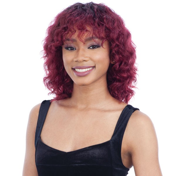 ebony human har wig