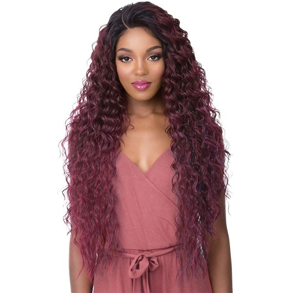 ebony red wig