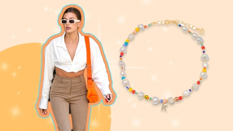 Hailey Bieber's Beaded Choker Is *Somehow* Still In Stock—And It's Affordable | StyleCaster