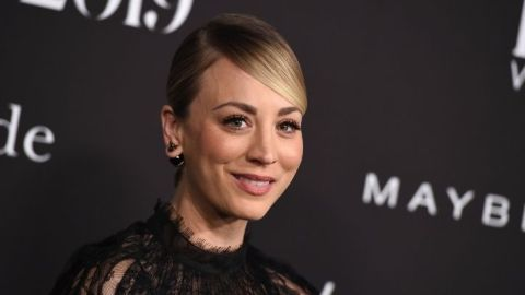 Kaley Cuoco Traded Her 'Flight Attendant' Curtain Bangs For A Blunt Chop   StyleCaster