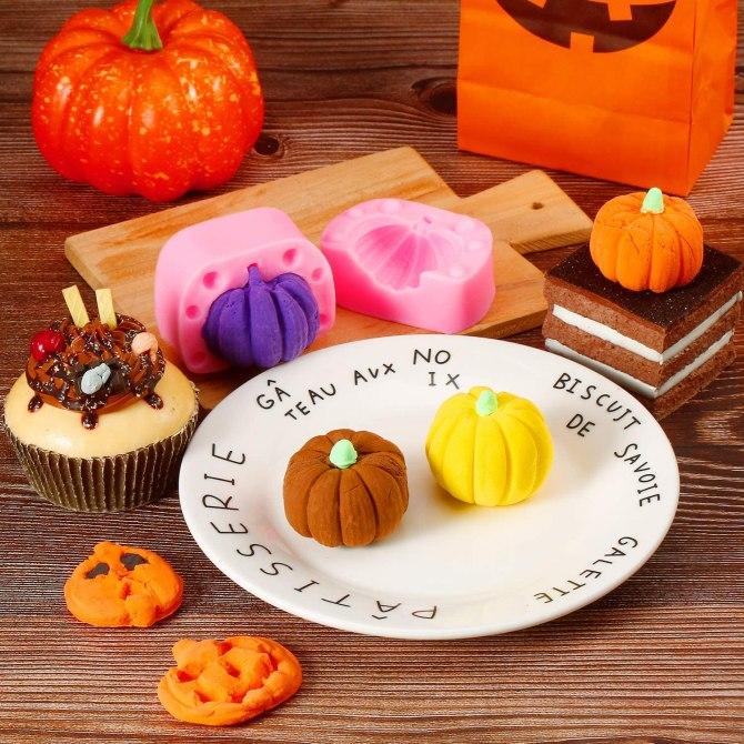Patelai Store 3D Pumpkin Candy Mold