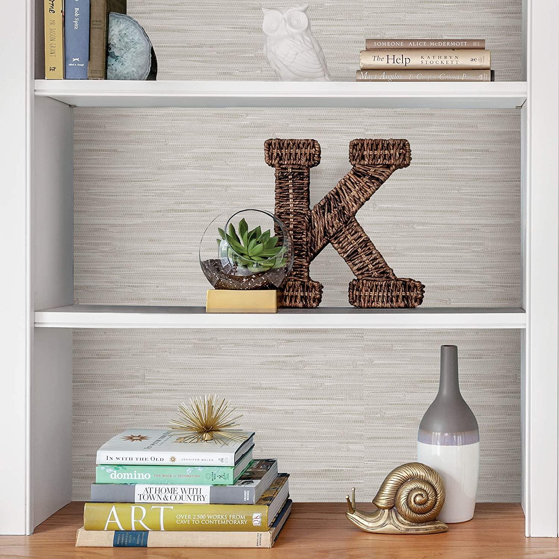 Grassweave Cream Peel and Stick Wallpaper