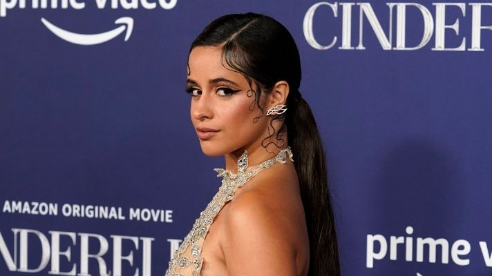Camila Cabello Matched Her Graphic Eyeliner to Her Princess Skirt on the Red Carpet