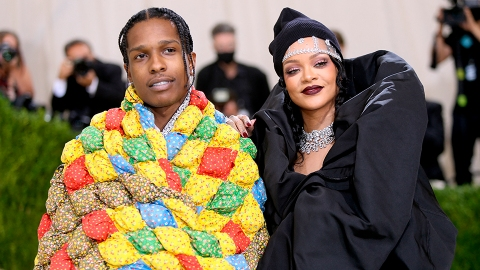 Rihanna & ASAP Just Went Red Carpet Official as the Last Guests to Attend the Met Gala   StyleCaster