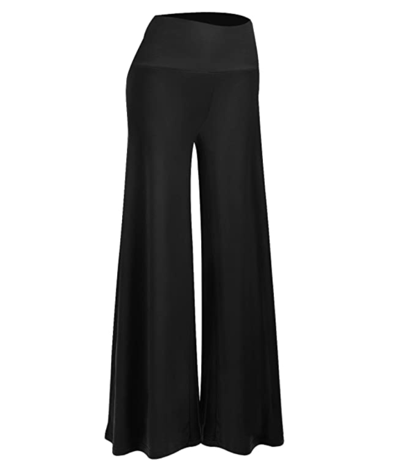 Arolina Wide Leg Palazzo Pants in black