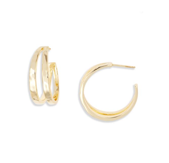 Kendra Scott Zorte Split Hoop Earrings
