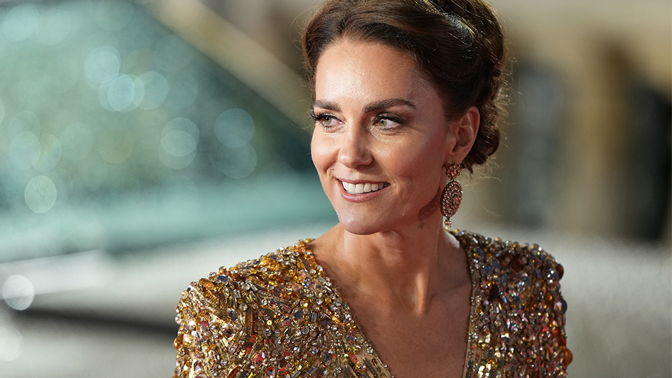 Kate Middleton Went Full-On Princess Mode For The 'No Time To Die' Premiere